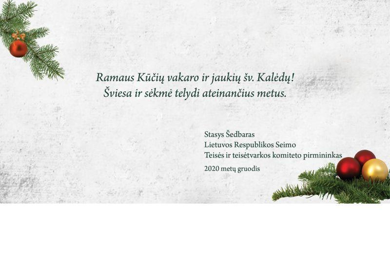 Lietuvos Respublikos Seimo nario sveikinimas